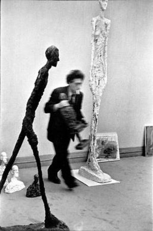 Henri Cartier-Bresson - Photograph of Alberto Giacometti by Cartier-Bresson