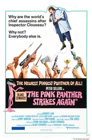 The Pink Panther Strikes Again - Theatrical release poster