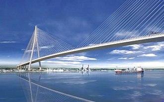 Gordie Howe International Bridge - Rendering by Windsor–Detroit Bridge Authority