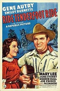 <i>Ride, Tenderfoot, Ride</i> 1940 film by Frank McDonald