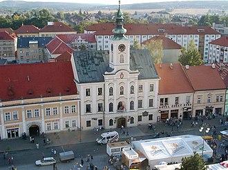 Rokycany - Image: Rokycany town hall and main square