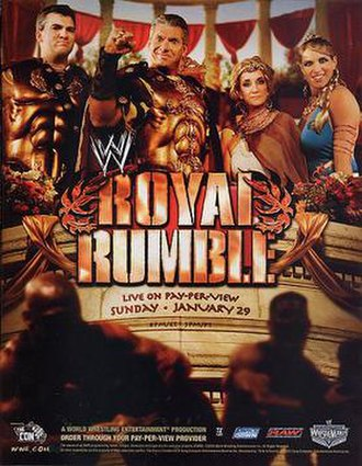 Royal Rumble (2006) - Promotional poster featuring the McMahon family