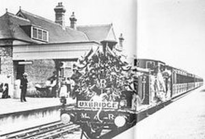 Ruislip tube station - The first service from Harrow on the Hill to Uxbridge ran on 4 July 1904
