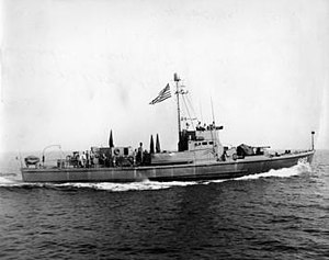 Elizabeth City, North Carolina - SC-1280 was one of thirty subchasers built at the Elizabeth City Shipyard.
