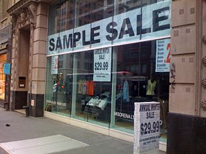 A sample sale in New York City