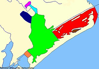 San Antonio Bay - Ayres Bay (orange), Espiritu Santo Bay (red), Guadalupe Bay (cyan), Hynes Bay (blue violet), Mission Lake (pink), Pringle Lake (brown), San Antonio Bay (green)