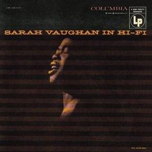 Sarah Vaughan in Hi-Fi - Image: Sarah Vaughan in Hi Fi
