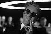 "Peter Sellers as the title character from Dr. Strangelove, a darkly comic example of the ""mad scientist"" stock character type"