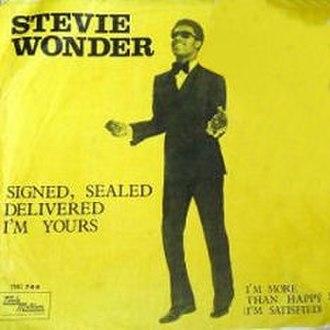 Signed, Sealed, Delivered I'm Yours - Image: Swonderssd
