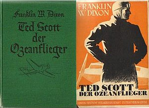 Stratemeyer Syndicate - Cover of book and dust jacket from 1930s German edition of probable first foreign Stratemeyer Syndicate book.