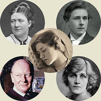 Terry family - Top: Kate Terry and Gordon Craig; centre: Ellen Terry; Below: John Gielgud  and Phyllis Neilson-Terry