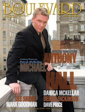 Boulevard (New York-based magazine) - Anthony Michael Hall photo by Clifton Parker for Patrick McMullan The Boulevard magazine