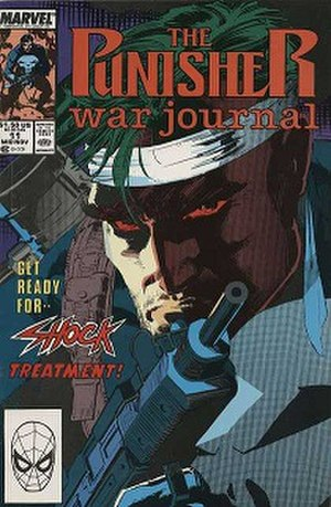 The Punisher War Journal (1988 series) - Cover to issue 11, art by Jim Lee.