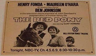 The Red Pony (1973 film) - 1973 promotional premiere advertisement