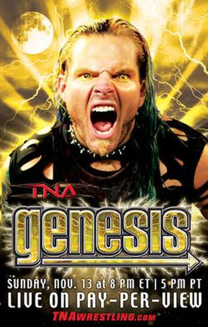 Genesis (2005) - The promotional poster for the event featuring Jeff Hardy