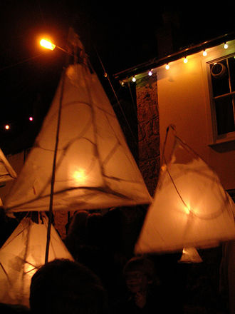Cornish mythology - The lantern Parade on Tom Bawcock's Eve