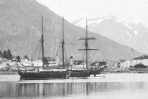 Torrent (ship) - Torrent getting ready to set sail in 1868.