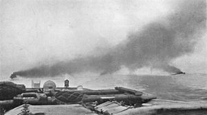 HMS Champion (1915) - Photograph taken from HMS Champion on 31 May 1916 at the beginning of the Battle of Jutland.