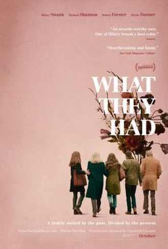 What They Had - Theatrical release poster