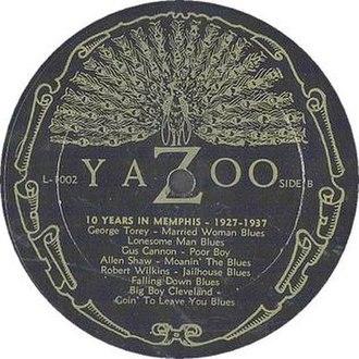 Yazoo Records - The Yazoo peacock