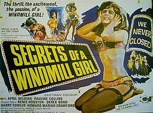 Secrets of a Windmill Girl - British quad poster