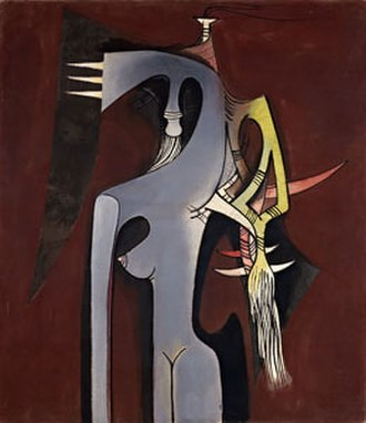 Wifredo Lam - Wifredo Lam, Zambezia, Zambezia, oil on canvas, 1950, Solomon R. Guggenheim Museum