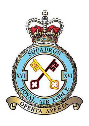 No. 16 Squadron RAF - 16 Squadron badge