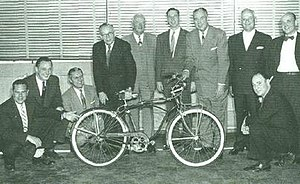 Schwinn Bicycle Company - Introduction of the 1954 Corvette, middleweight bicycle.
