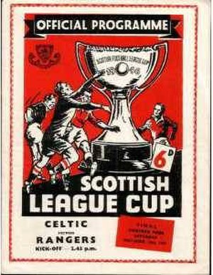 1957 Scottish League Cup Final - The 1957 Scottish League Cup final match programme