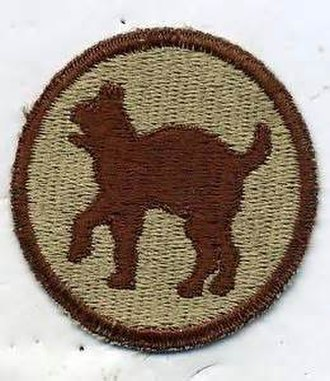 "81st Infantry Division (United States) - Desert version of the 81st ""Wildcat"" SSI"