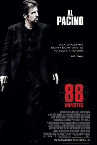 88 Minutes - Theatrical release poster