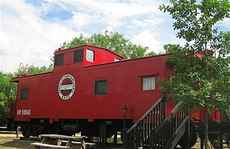 Antlers Hotel (Kingsland, Texas) - Three cabooses were restored for special guest accommodations