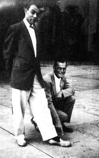 Matt Baker (artist) - Baker (left) and publisher Archer St. John at Grauman's Chinese Theatre (undated)
