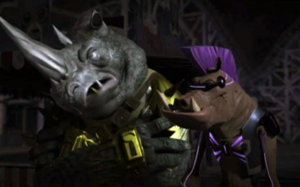 Bebop and Rocksteady - Rocksteady and Bebop as they appear in the 2012 animated series.