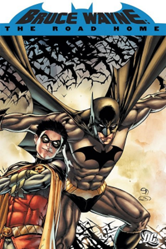 Bruce Wayne: The Road Home - Cover of Bruce Wayne: The Road Home deluxe edition.  Art by Shane Davis.