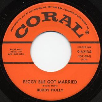 Peggy Sue Got Married (song) - Image: Buddy Holly Peggy Sue Married Coral
