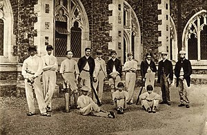 Edward Tylecote - 1864 Clifton College Cricket XI (Tylecote is bottom right)