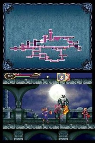Castlevania: Portrait of Ruin - The main characters, Jonathan and Charlotte, attacking together.