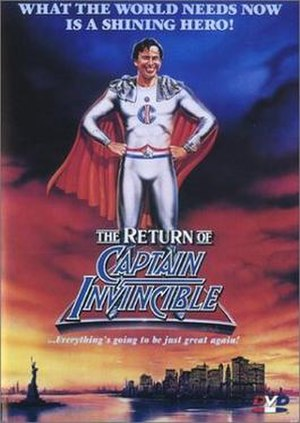 The Return of Captain Invincible - DVD cover