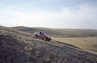 Mongol Rally - A rally car in Mongolia