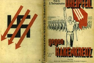 Three Arrows - Cover of Chakhotin's book Three Arrows against the Swastika