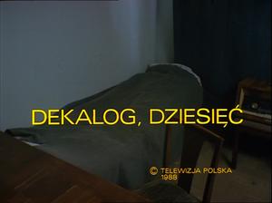 Dekalog: Ten - Image: Decalogue dziesiec