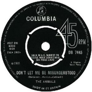 Don't Let Me Be Misunderstood - Image: Don't Let Me Be Misunderstood cover