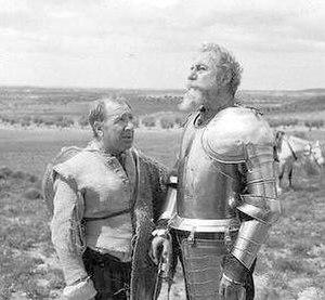 Fernando Rey - Fernando Rey, as Don Quixote, with Alfredo Landa, as Sancho Panza, in El Quijote de Miguel de Cervantes (1991).