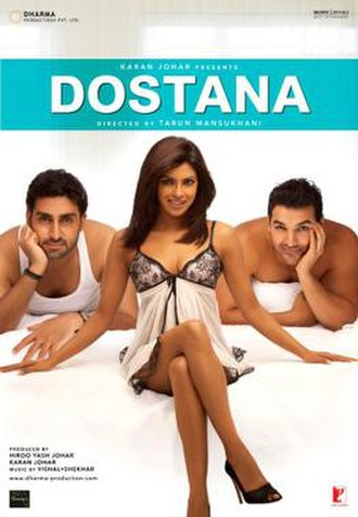 Dostana (2008 film) - Theatrical release poster