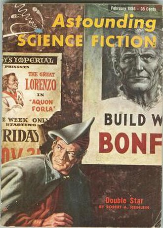 Double Star - Cover of Astounding Science Fiction that carried the first segment of the serialized novel in February, 1956
