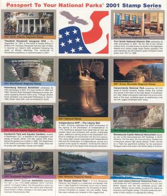 National Park Passport Stamps - Image: ENP Stamps 2001