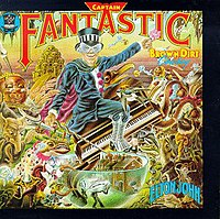 Elton John's cryptic personality was revealed with the autobiographical album Captain Fantastic and the Brown Dirt Cowboy.