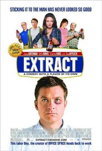 Extract (film) - Theatrical release poster