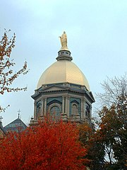 Close up of the famous Golden Dome, which sits atop the main building